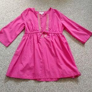 Talbot's pink fuschia Beach cover-up cotton medium